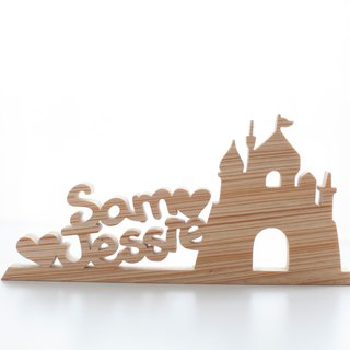 Customized name wedding gift handmade wooden brand name - flagship models