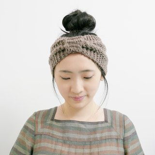 Creamy Brown Woollen Hair Band