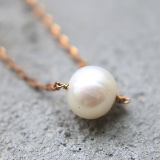 < ☞ HAND IN HAND ☜ > natural pearls - Tuesday brass long necklace (0318)