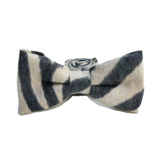 StoneasChic autumn and winter zebra bristles tweeted tie bow Tie