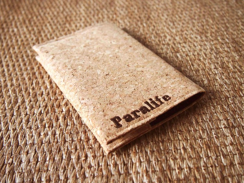 Paralife YOUR NAME's Cork Passport Cover Case Holder