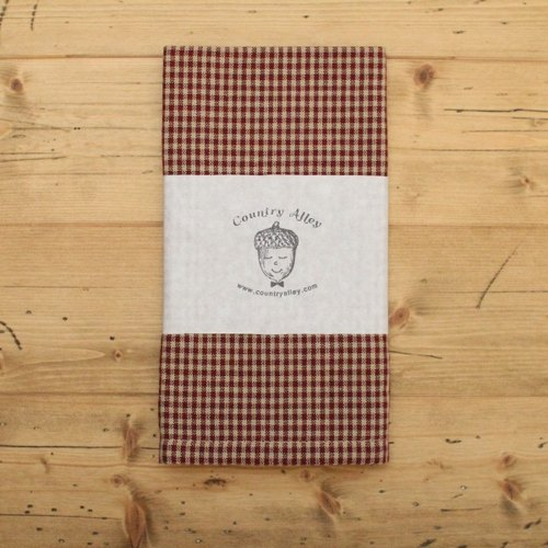 French classic small checks / grid bread towel. Napkins