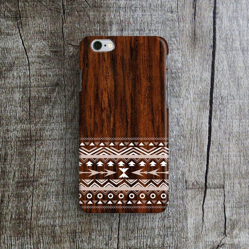 Aztec Wooden Print, - Designer iPhone Case. Pattern iPhone Case. One Little Forest