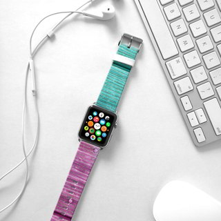 Apple Watch Series 1 , Series 2, Series 3 - Double Coloured Wood Pattern Watch Strap Band for Apple Watch / Apple Watch Sport - 38 mm / 42 mm avilable