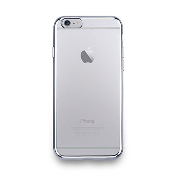 iPhone 6s -Sheen Series- metal light through a sense of protective soft cover - bright silver