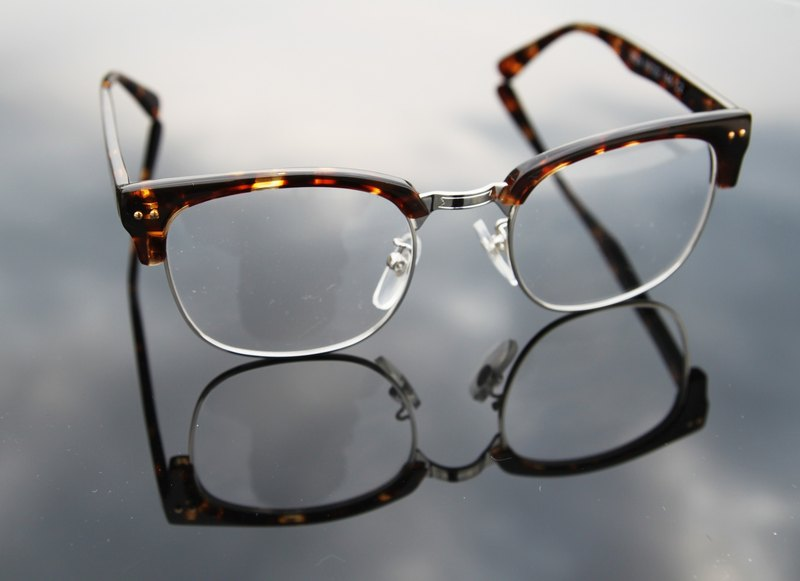 Optical Glasses│Handmade Acetate Eyewear│ Half-Rim Vintage Frame│2is-029C4│