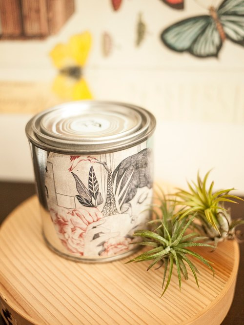 Geranium natural soy candles - natural soy cans x x x Smoke - pure essential oils