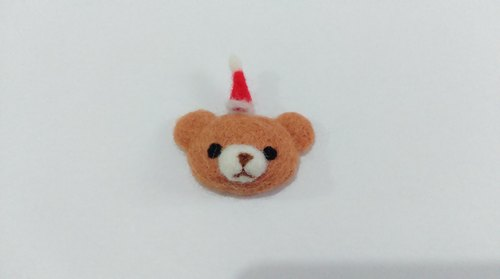 Christmas Bear t-Wool felt  (Strength magnet)