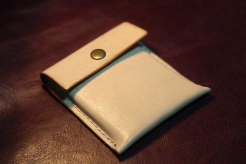 South American cowhide hand-primary card holder + small wallet