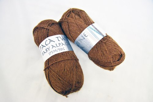 Alpaca Yarn Organic Alpaca Wool - Dark Brown Camel - Fair Trade