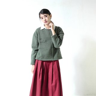 SU: MI said Aisha Asymmetric Space Sweater _5AF007_ Grass Green