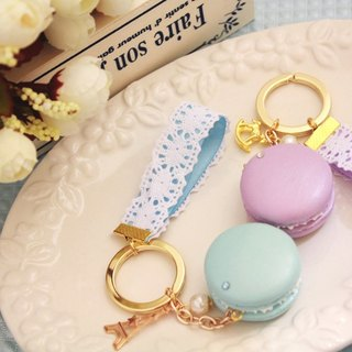 Lace elegant - micro pearl light macaron key ring / wedding small things / customized