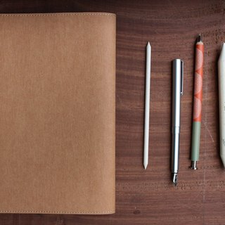 Old book – washed kraft paper cover x blank notebook