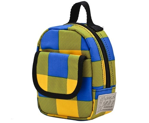 SOLIS [ Old Master Series ] Premium Purse Bag /Waist Bag(yellow/blue grid)