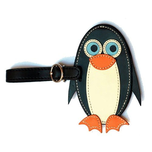 Organized Travel- cute animal shaped luggage tag / ID tag / key ring (Penguin)