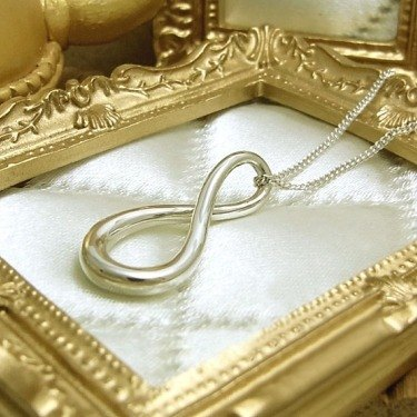 Infinity sterling silver necklace (single-stranded)