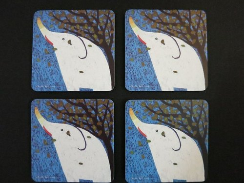Elephant coasters (set of 4 into 1)