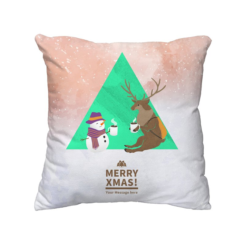 [Handongsongnuan] ordered a Christmas pillow! - And Mr. reindeer drinking cocoa together -