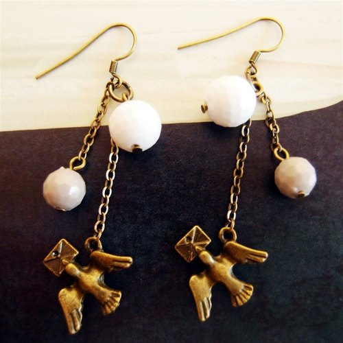 IP Messenger metal earrings