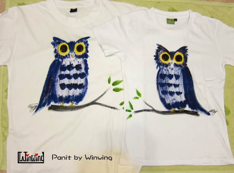 Owl Companion (two groups) -Winwing hand-painted clothing < Free Shipping >