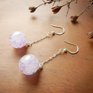 *Coucoubird*Purple White Ice earrings - silver