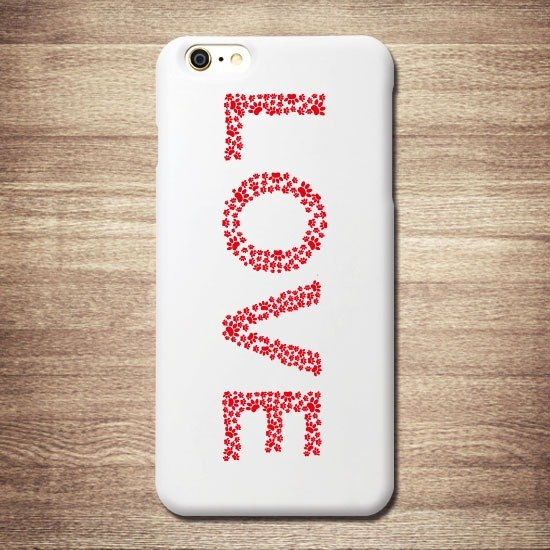 Cat phone shell meow star red cat footprint LOVE iPhone white shell
