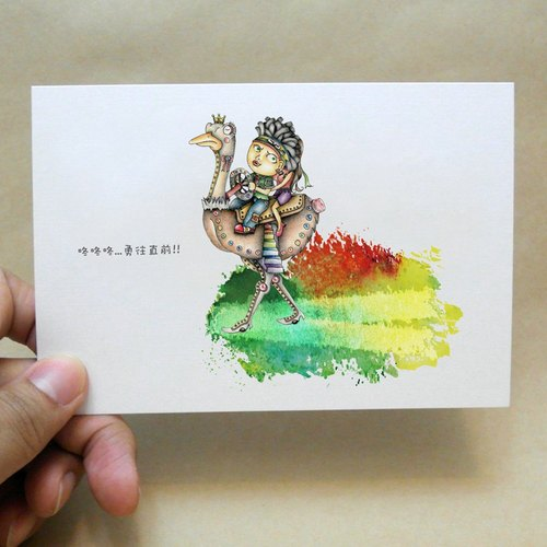 ◈DEEROCK◈ manual illustration, universal card, color pencil ↔GOGOGO! Forward!