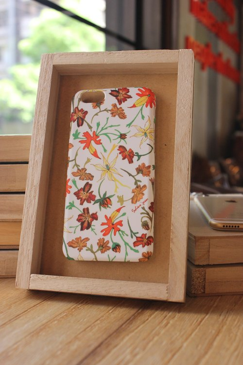 Korea style top anti-wear paint painted phone protective shell [earth flower department / warm orange tie South Korea's design museum can be customized model iPhone: i6s / i6s plus + / i6 / i6 plus / i5 / Samsung Samsung: S6 Edge + plus / S6 / S6 E