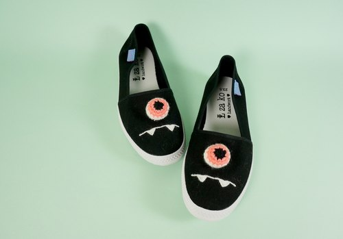 Handmade casual lazy shoes eyeball eye section non-woven models
