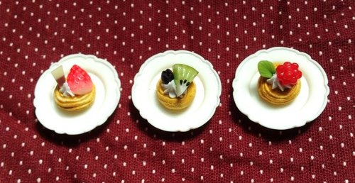 Delicious fruit pie earrings set (can be changed ear clip-on) ((over 600 were sent mysterious little gift))