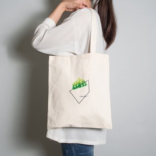 Hand-painted handprints Peibu bag [fat] cactus-sided pattern hand / shoulder