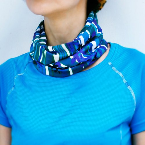 *cycling road race necessary*[COOLMAX sports scarf] Phalaenopsis violet