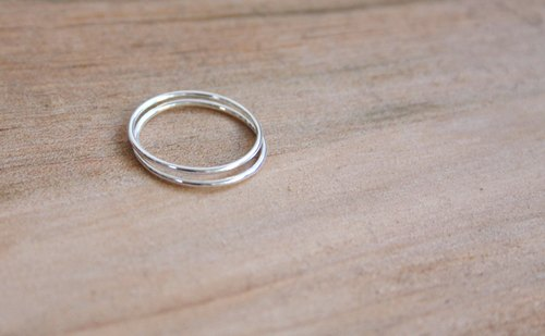 [ODY] HandMade × THE ROUND RING × simple design silver rings handmade