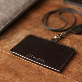Leather ID sleeve (horizontal) two colors