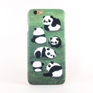 Lazy Pandas iPhone case