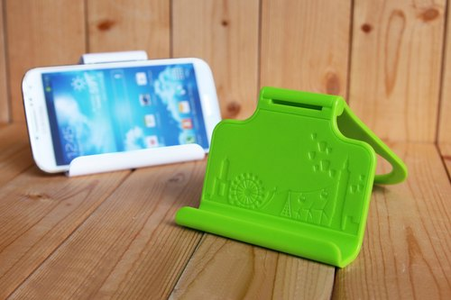 Patented folding dual-use mobile phone holder - Taiwan City Edition (green) [Gift Edition]