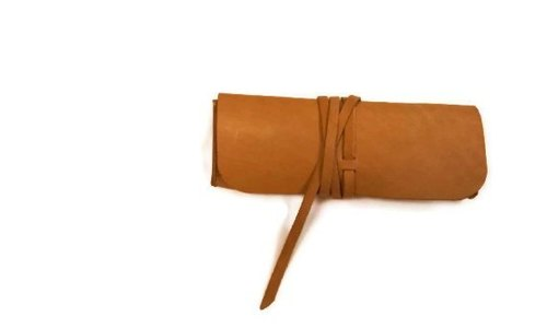 Hand-colors leather pencil case / Cosmetic BY L'Chaim Leathercraft