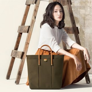 【ADOLE】 Triumph long tote bag - olive green