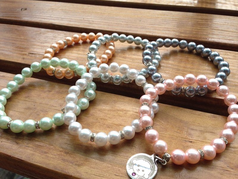 [6] pearl necklace color options, size can be customized. And customized brand sets match.