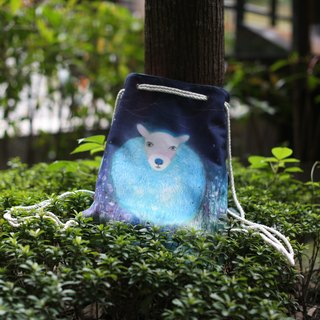 After a peaceful lamb / double beam port backpack canvas / can hand dorsal / illustrator: Sera Lee