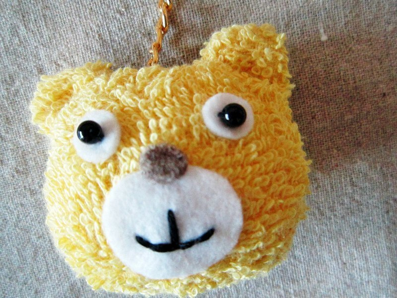 Yellow Bear phone strap