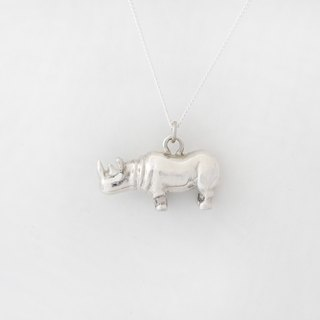 Charlene sterling silver hand-made -*Love the Earth Series - African black rhino necklace*
