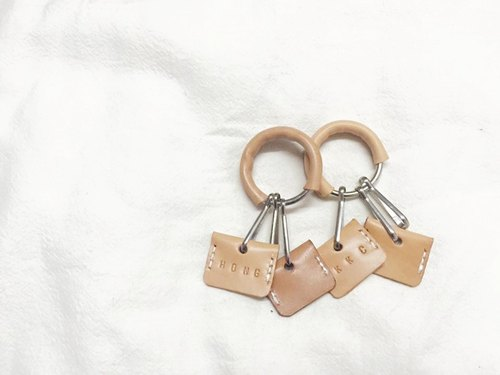 Live and Learn - Vegetable tanned leather key ring set