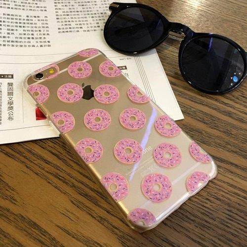 Strawberry Donut Pattern  Print Soft / Hard Case for iPhone X,  iPhone 8,  iPhone 8 Plus,  iPhone 7 case, iPhone 7 Plus case, iPhone 6/6S, iPhone 6/6S Plus, Samsung Galaxy Note 7 case, Note 5 case, S7 Edge case, S7 case