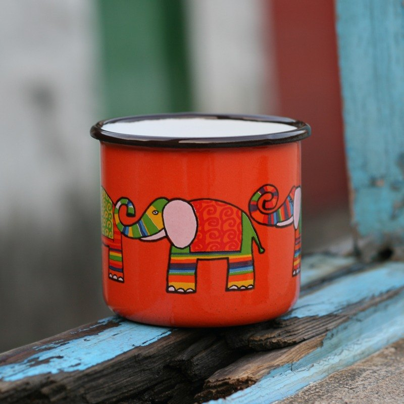 Smaltum Prague Philharmonic Fen _ Rainbow enamel cup orange (250ml) <FDN000157>