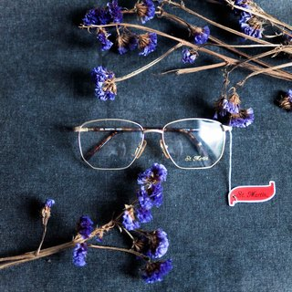 River Hill - Paris's Melancholy Gold Embossed Square Box Amber Mirror Eyeglasses Japan Japan Student Gold Frame Carved
