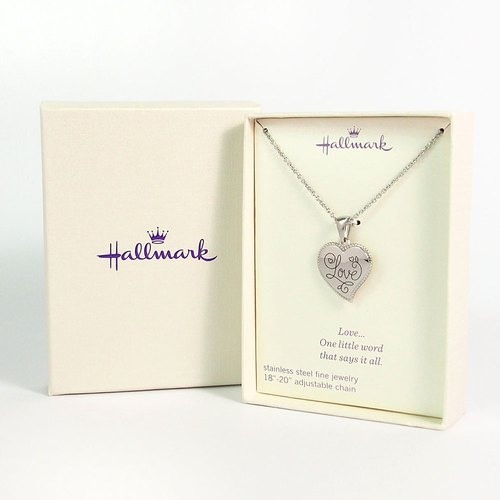 ◤ Love is our common language | HM sterling silver love heart-shaped necklace Valentine's Day |