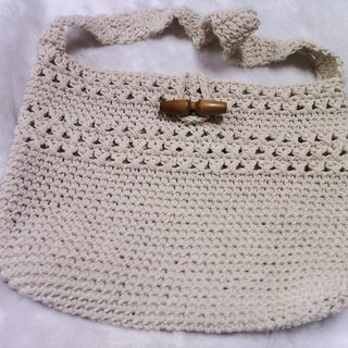 Cotton hand-woven shoulder bag handbag also