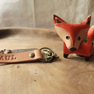 Boss boss Mr. Fox three-dimensional pure leather key paragraph - Customizable name