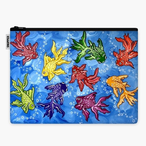 SpaceSuit - Document Pouch - Rainbow Fish